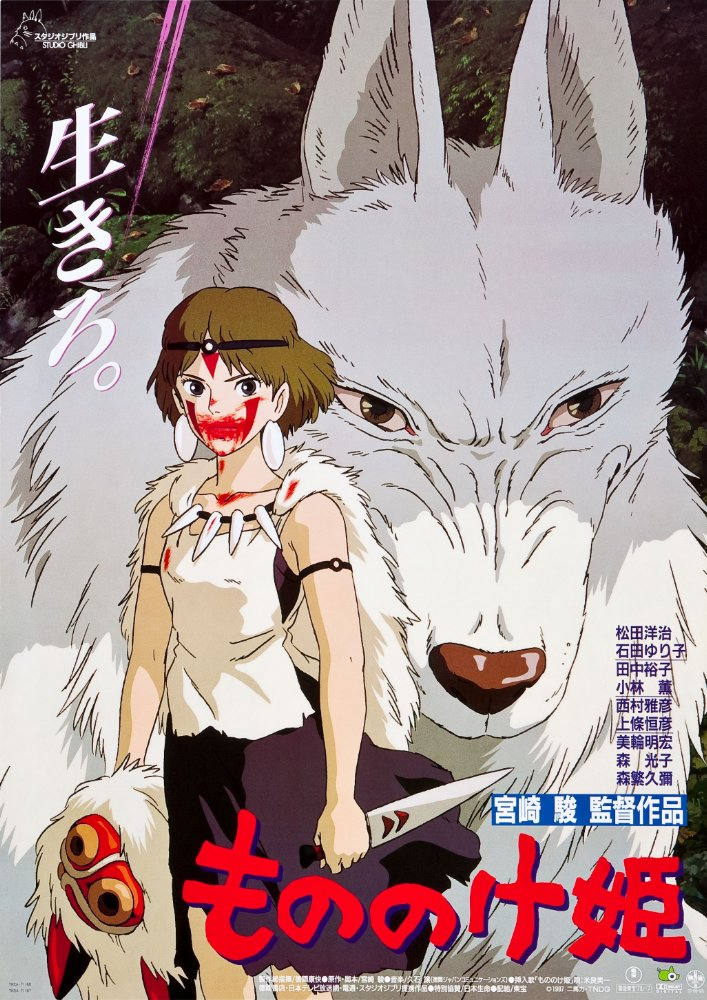 Movie poster for Princess Mononoke