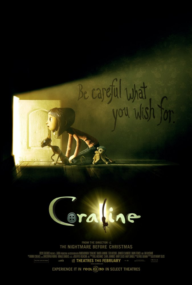 Movie poster for Coraline