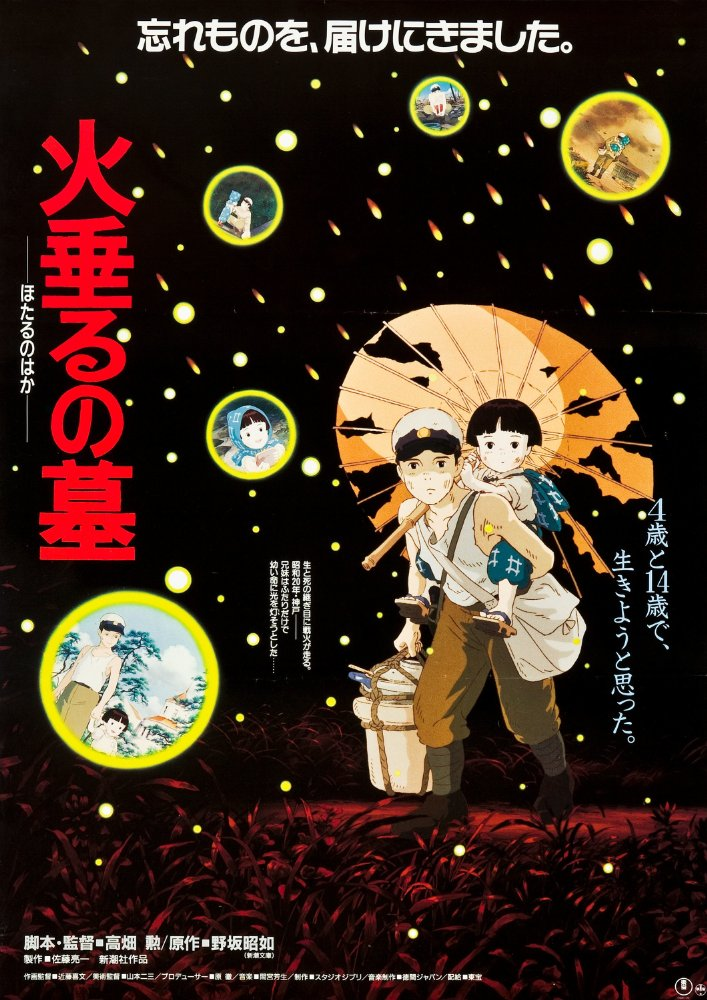 Movie poster for Grave of the Fireflies