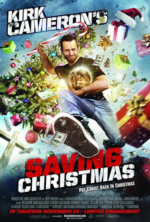 Movie poster for Kirk Cameron's Saving Christmas