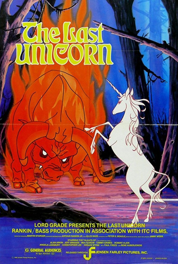 Movie poster for The Last Unicorn